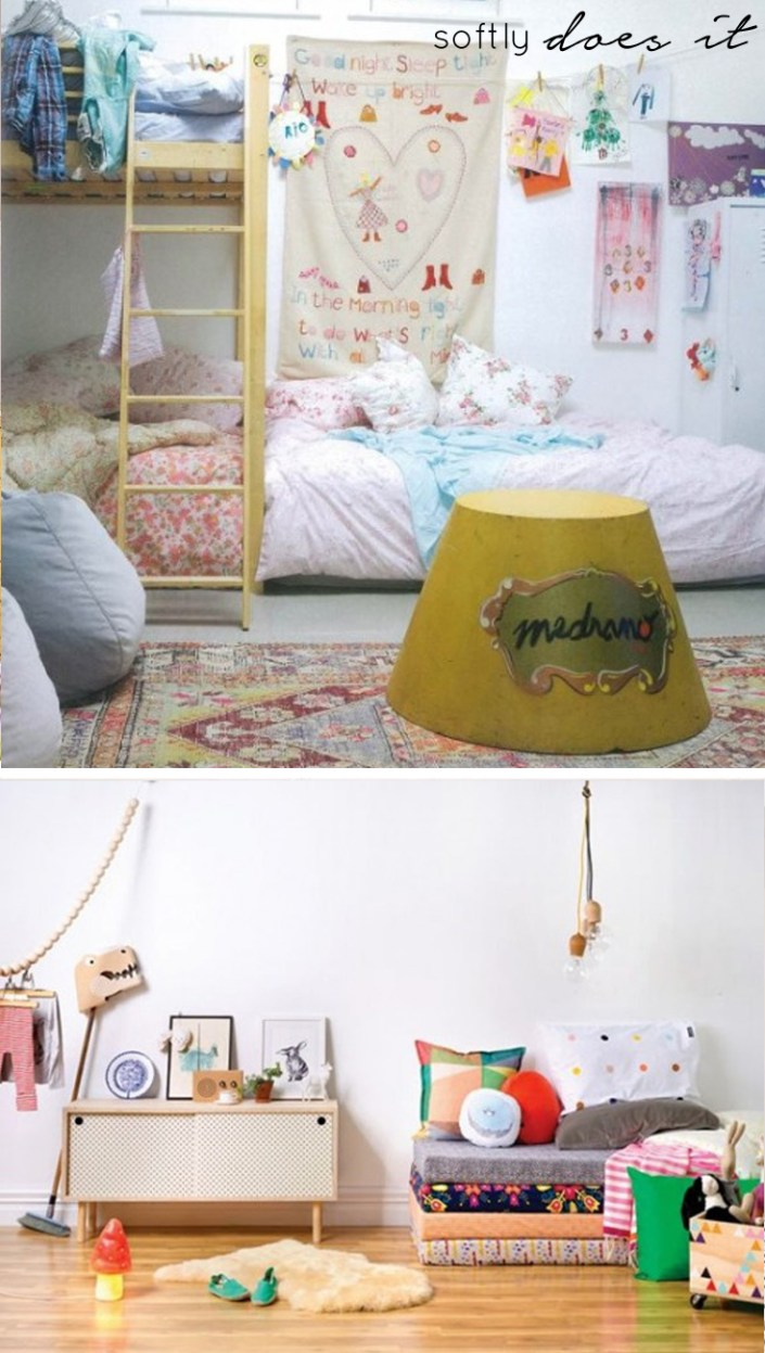 small kids rooms softly does it