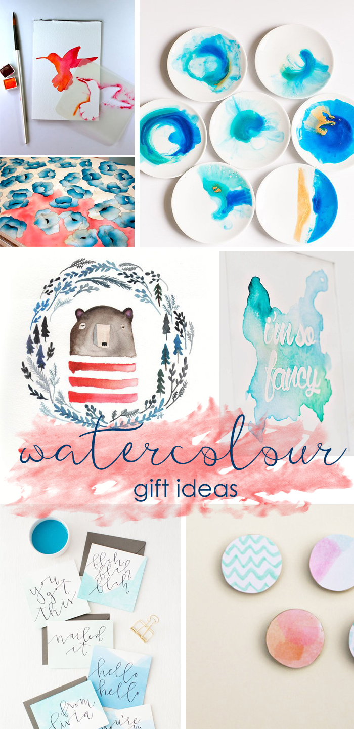 watercolour DIY gift ideas