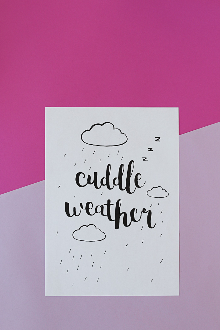 Cuddle Weather Free Printable