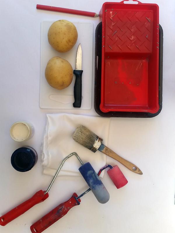 potato print stocking