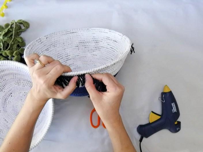 Anthropologie knock off - DIY Tassel Basket