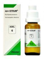 Adel 6 apo-STRUM homeopathic medicine for thyroid problems, homeopathy treatment for thyroid, hypothyroidism hyperthyroidism