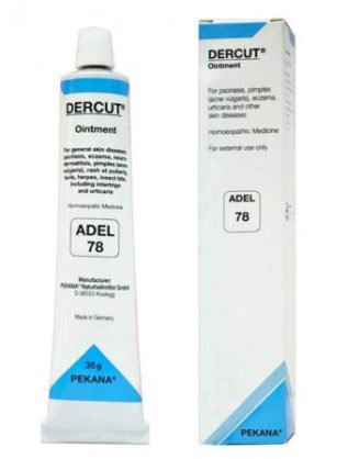 ADEL 78 DERCUT ointment general skin diseases, psorioses, eczema, neurodermatitis, pimples (acne vulgaris), rash at puberty, boils, herps, insect bite