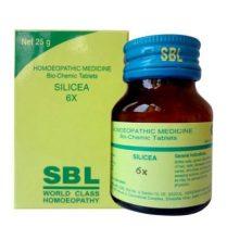 SBL Biochemic tablet Silicea 3x, 6x, 12x, 30x, 200x for hair, nails, bone health