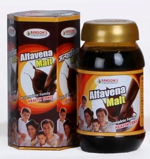 Baksons Alfavena Malt -homeopathy medicine for weight gain, family health tonic