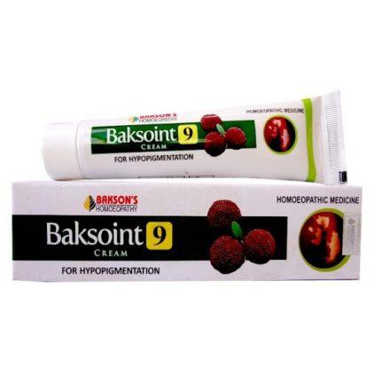 Bakson Baksoint 9 Cream for hypopigmentation -white skin patches due to Vitiligo or Leucoderma, Eczema, Psoriasis, Burns