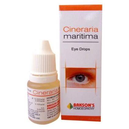 Bakson Cineraria Maritima Eye care Drops for Cataract, blurred vision, corneal opacities