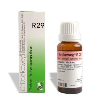 Dr. Reckeweg R 29 Vertigo, syncope, circulatory problems, blood circulation diseases, Vertigo