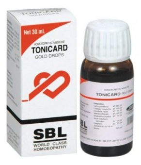 SBL Tonicard Gold drops, homeopathic heart and circulatory medicine. For complete heart care