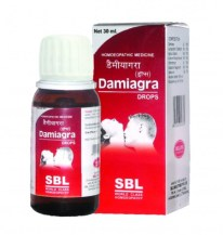Homeopathic sexual wellness Drops - SBL Damiagra, Homeopathy for erectile dysfunction, weak libido, premature ejaculation. Know all about Damigra drops ingredients, price, dosage, benefits