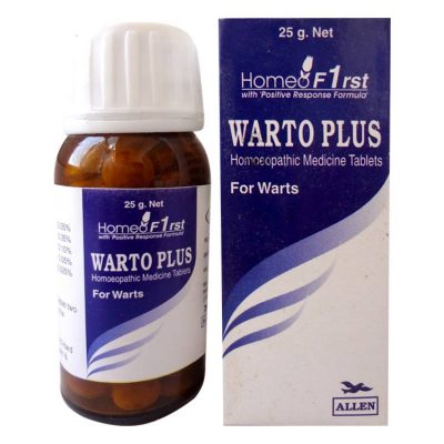 Allen Warto Plus Tab for Warts, Contains Thuja Occ, Acidum Nitr,Dulcamara