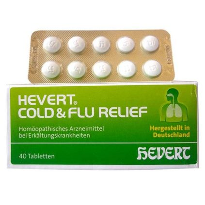 Hevert - German Homeopathic medicine for cold and flu relief