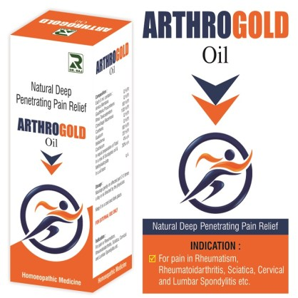 Dr.Raj Arthro Gold Massage Oil, Natural Deep Penetrating Pain Relief