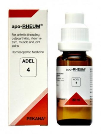 Adel 4 apo RHEUM homeopathic medicine for arthritis, osteoarthritis, muscle pain, joint pain, low back pain, cervical spondylosis, tennis elbow
