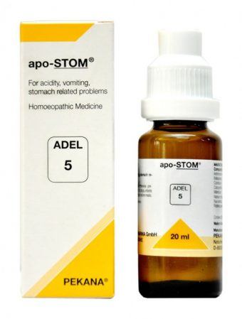Adel5 apo-STOM Pekana homeopathic medicine for acidity, vomiting, stomach disorders. acidity treatment in homeopathy