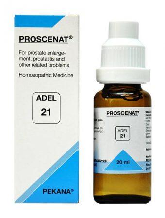 ADEL 21 Proscenat homeopathic medicine for prostate enlargement, prostatitis