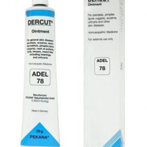 ADEL 78 DERCUT ointment for psoriosis, eczema, pimples (acne vulgaris), rash at puberty, boils, herps, insect bite, skin diseases