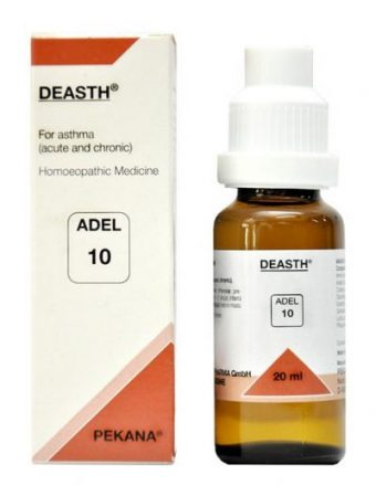 ADEL 10 Deasth homeopathic drops for asthma. homeopathy treatment for asthma