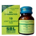 SBL Biocombination 19 (BC19) Tablets for Joint and Muscle Pain, stiff neck, knee & back pain
