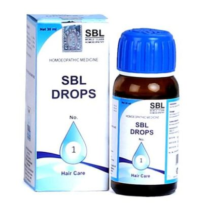 SBL Drops No 1 homeopathic medicine for hair loss, hair fall control remedy with lycopodium arnica
