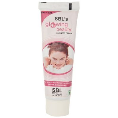 SBL homeopathy Glowing beauty fairness and scar cream with berberis, Thuja, Calendula. Best Herbal Fairness cream