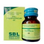 SBL Biochemic Tablet Kali Phosphorica 3x, 6x, 12x, 30x, 200x-mental and physical weakness, back pain, depression, sleeplessness (insomnia), nervine tonic