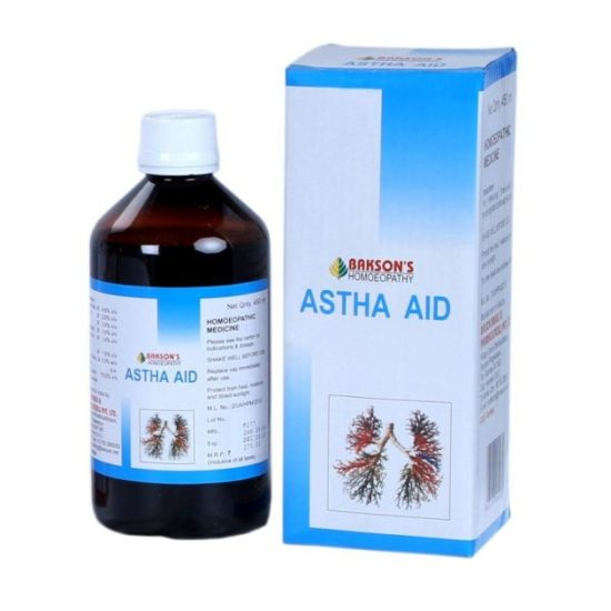 baksons astha aid syrup for asthma, whooping cough, chest tightness, breathing difficulty, homeopathic expectorant