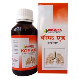 Bakson Kof Aid, soothes the irritated throat with bryonia, Justicia, Drosera