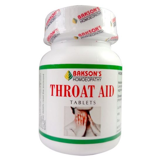 Bakson Throat Aid Tablets for Throat Infections - Laryngitis, Pharyngitis, Tonsillitis, voice hoarseness