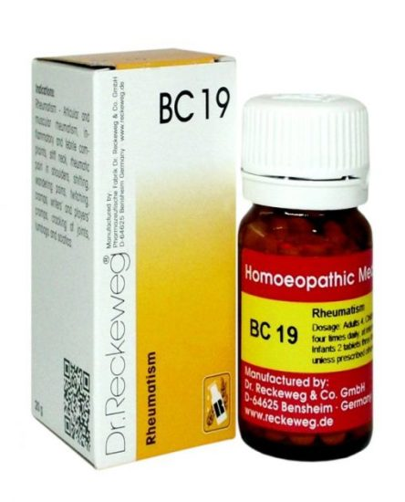 Dr Reckeweg Biocombination Tablets BC 19 for Rheumatism
