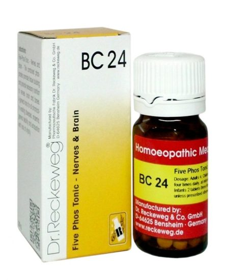 Dr.Reckeweg-Germany Biochemic Combination Tablets BC 24, Homeopathy Five Phos for Brain, Nerves