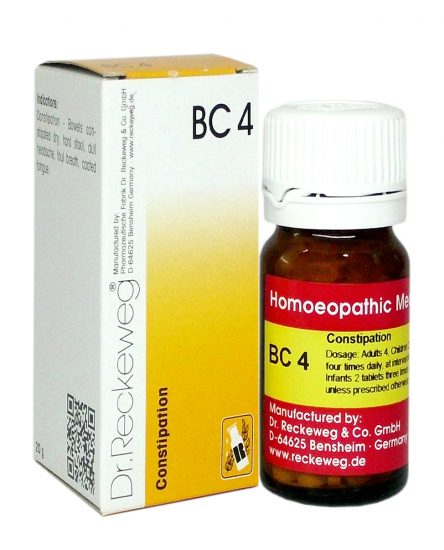 Dr.Reckeweg Biochemic Combination Tablets BC 4 for Constipation, hard stools