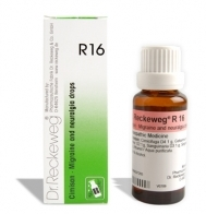 Homeopathy medicine for headaches, Dr. Reckeweg R16 Migraine & neuralgia drops, throbbing pain in one side of head, recurrent pulsating headaches