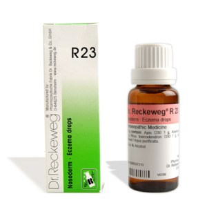 Dr. Reckeweg R23 Eczema treatment medicine,, homeopathy for pimples, herpes, rashes, eschar, Urticaria