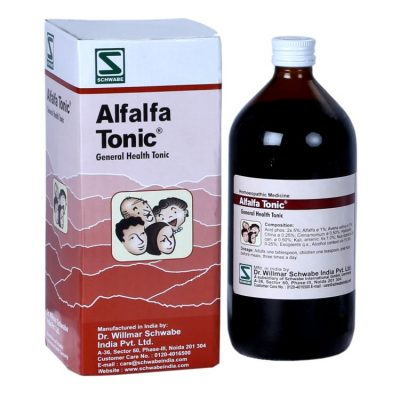 Schwabe Alfalfa Tonic - homeopathy genral health tonic for general weakness, lethargy, lack of appetite, stress, tension and sleep disorders
