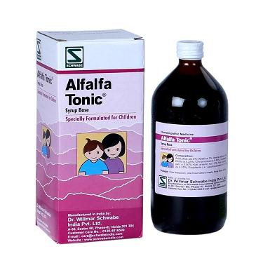 Schwabe Alfalfa Tonic for children, specially formulated health supplement for kids