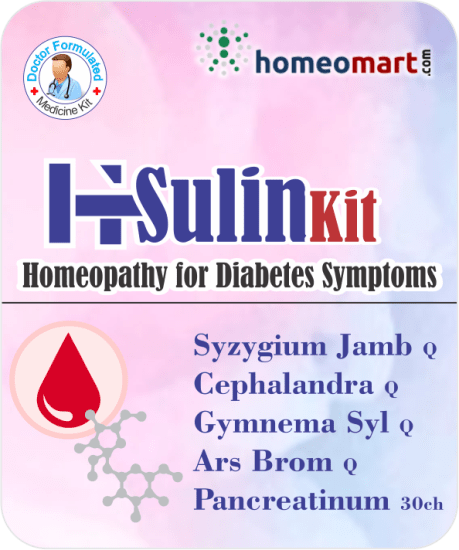 Homeopathy Insulin control medicine kit