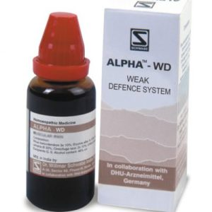 Schwabe Alpha-WD drops for hypersensitivity to allergens. Homeopathic allergy care