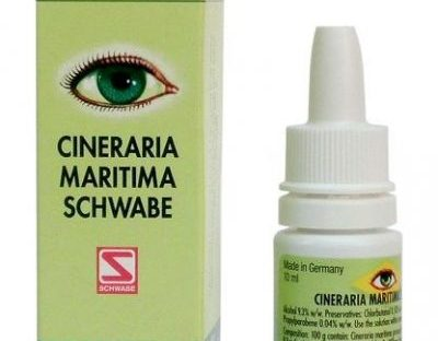 Schwabe German Cineraria Maritima Eye Drops 10ML for cataract, vision clouding