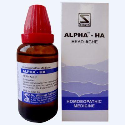 Schwabe Alpha HA for Headache, German homeopathy medicine for migraine
