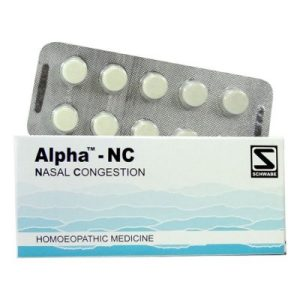 Schwabe Alpha-NC Tablets for nasal congestion, inflammation of mucous membranes watery coryza, stuffiness of paranasal sinuses
