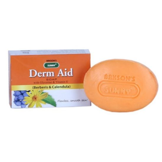 Best Soap -Baksons Derm Aid with Berberis & Calendula, Glycerine & Vitamin E