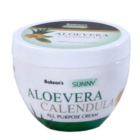 Baksons Sunny Aloevera Calendula multipurpose antiseptic skin cream, prevents scarring, sunburn and ageing of skin