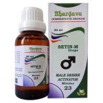 Bhargava Setin-M drops, Minims 23 male desire activator