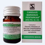 Schwabe Carduus Marianus Pentarkan Tablets fatty liver treatment in homeopathy