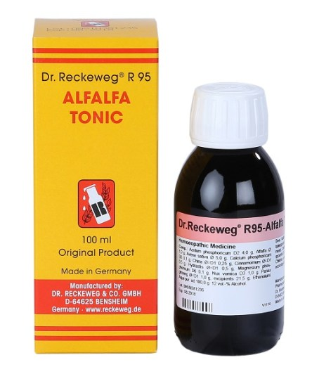 Reckeweg R95 Alfalfa Tonic, German Homeopathic family Tonic, Anemia, loss of appetite, loss of weight, recovery from illness