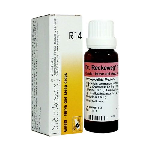 Homeopathy nerve and sleep drops, medicine for insomnia, nervous agitation, sleeplessness- Dr. Reckeweg R14