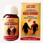 Nipco Gold stroke with Ginseng, Aphrodisiac tonic for men, treats erectile dysfunction, sexual weakness, impotence, premature ejaculation. popular sex medicine in India