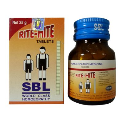 Buy SBL Rite Hite Tablets, clinically proven homeopathic medicine for essential height increase