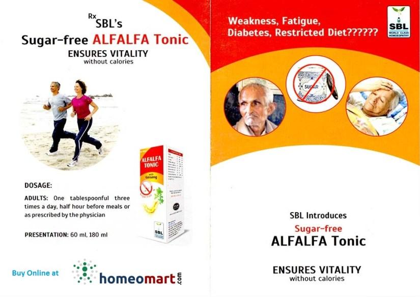 SBL Homeopathy ALFALFA Tonic